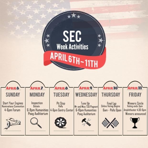 SEC calendar